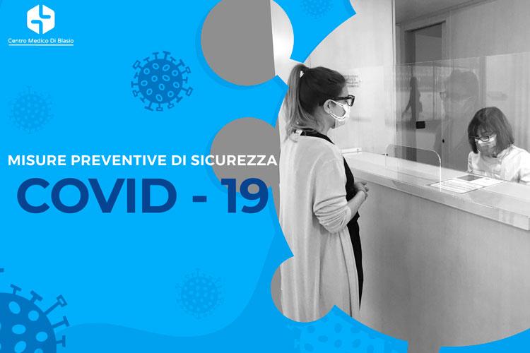 Misure preventive di sicurezza COVID-19